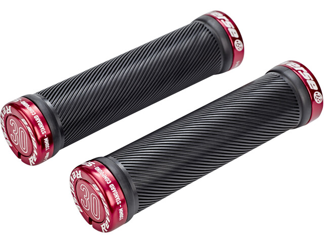 Reverse Spin Lock-On Grips black/red
